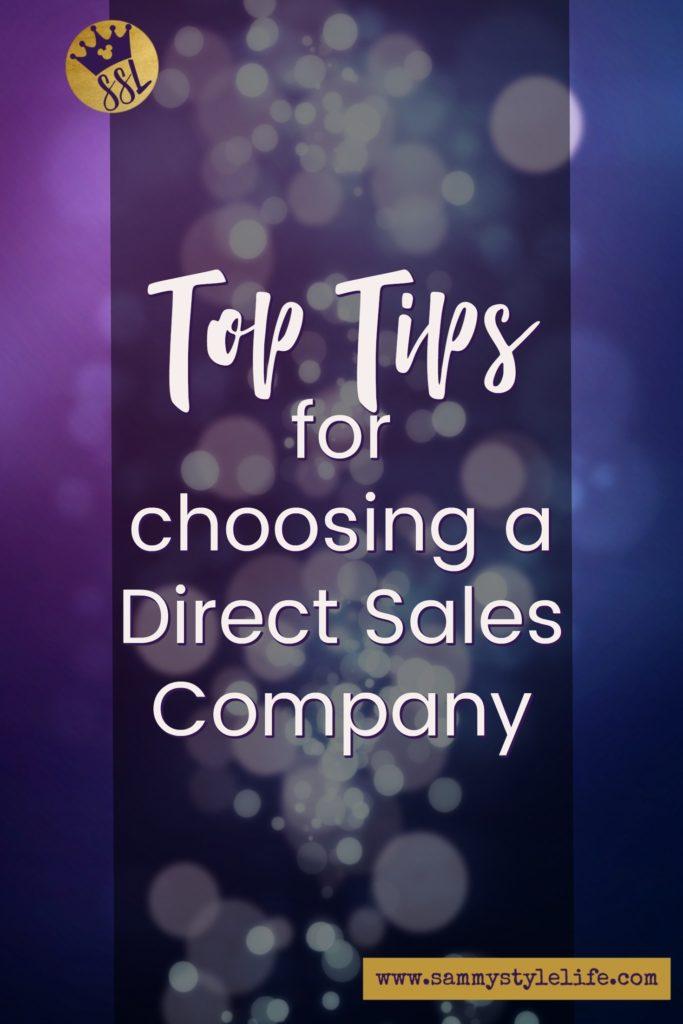 Top Tips when choosing Direct Sales
