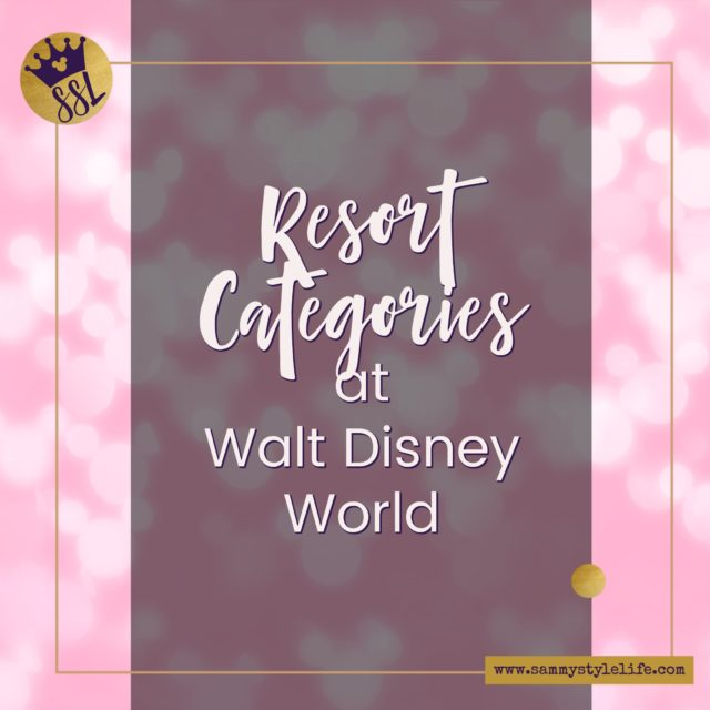 Resort Categories at Walt Disney World